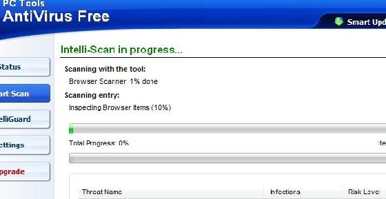 pc tools antivirus scan