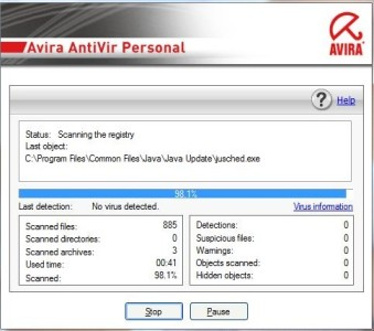 Avira launched straight into a quick scan after installing
