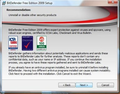 BitDefender free antivirus offers good security advice