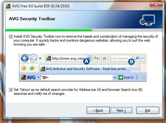 AVG Toolbar installation