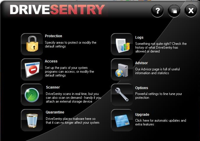 DriveSentry interface