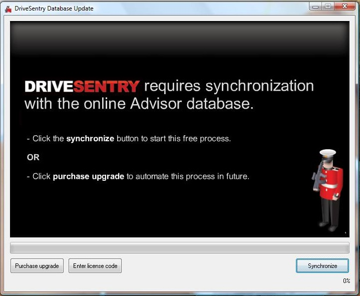 DriveSentry synchronization
