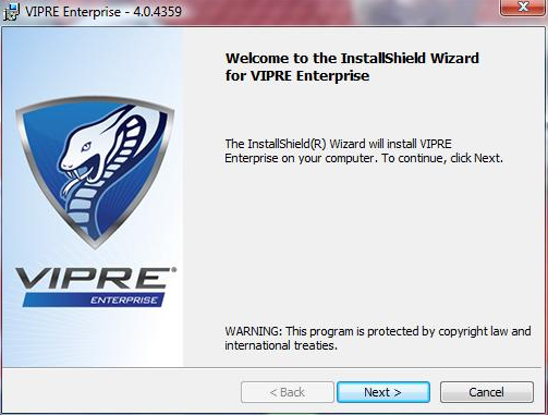 Vipre Enterprise installation