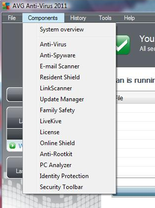 AVG Antivirus 2011 features