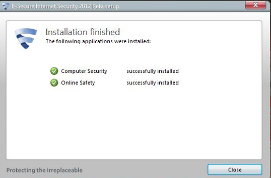 F-Secure Internet Security 2012 installed