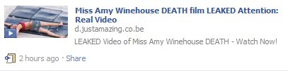 Amy Winehouse death scam video