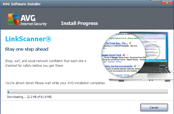 AVG Internet Security 2012 installation