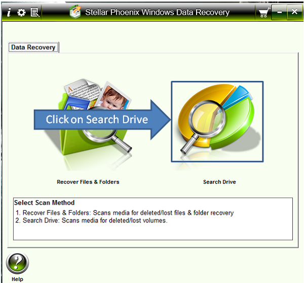 Stellar Phoenix Data Recovery first screen
