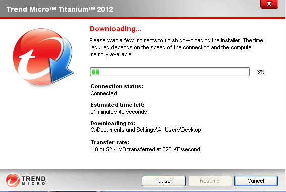 downloading Trend Micro Titanium Antivirus Plus 2012