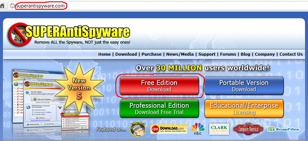 install free version of SUPERAntiSpyware 5