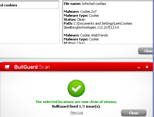Bullguard Internet Security 12 scan results