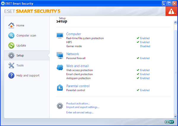 ESET Smart Security 5 features