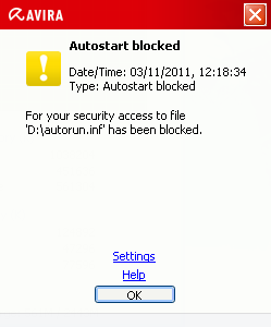 Avira Free Antivirus 2012 USB protection