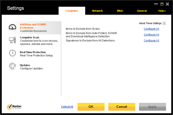 Norton Internet Security 2012 features