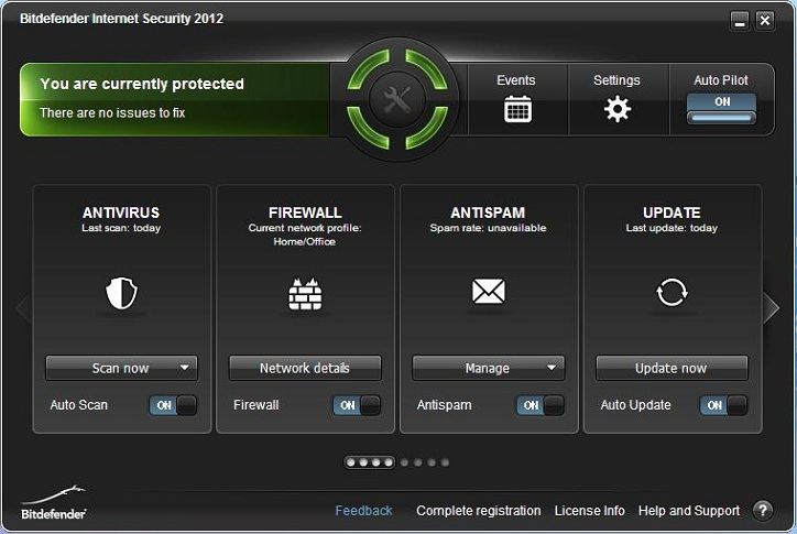 BitDefender Internet Security 2012 interface 1