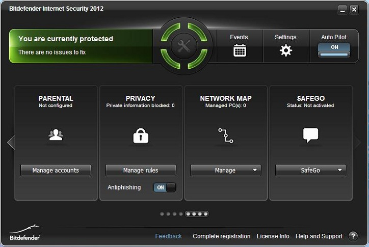 BitDefender Internet Security 2012 interface 2
