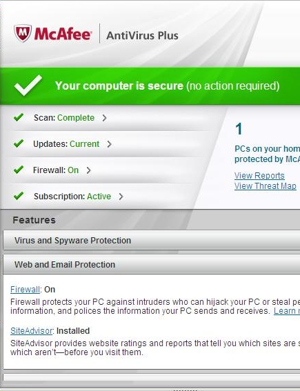 My Review Of McAfee Antivirus Plus 2012