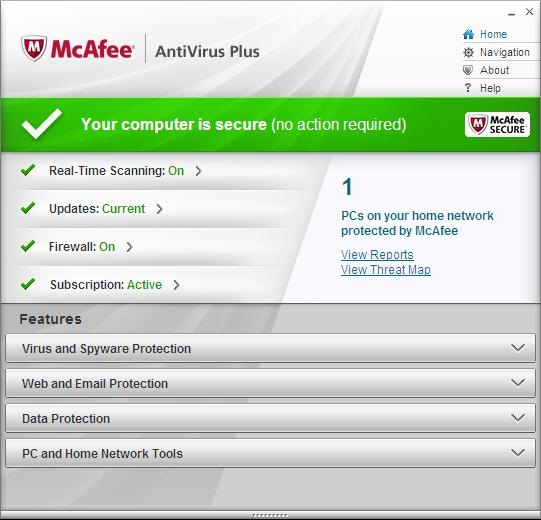 McAfee Antivirus Plus 2012