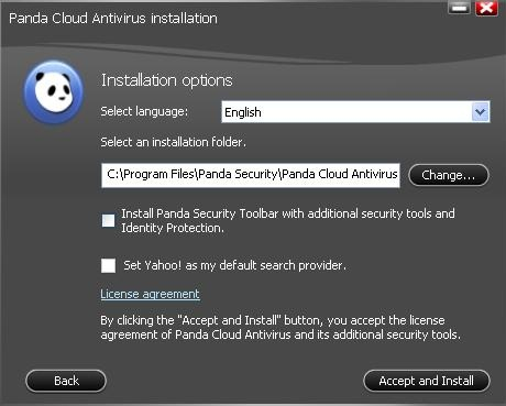 Panda Cloud Antivirus installation