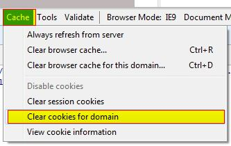 clear domain cookies