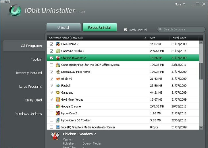 iobit uninstaller 2.1 batch uninstall