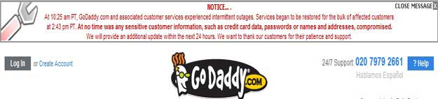GoDaddy attack