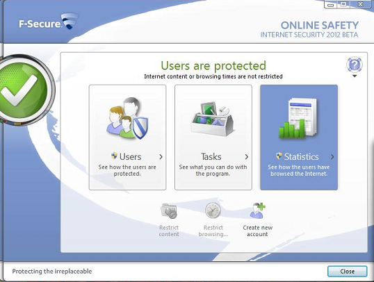 F-Secure Internet Security 2012 multi user protection