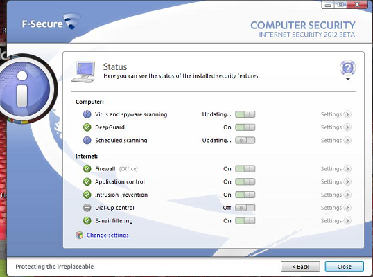 F-Secure Internet Security 2012 features